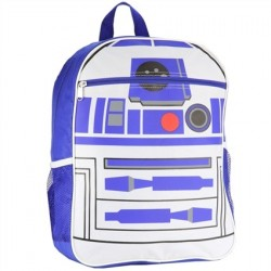 Disney Star Wars The Force Awakens R2D2 Blue And White School Backpack