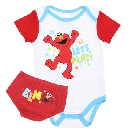 Sesame Street Elmo Onesie And Diaper Cover Elmo Baby Clothes