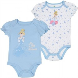 Disney Princess Cinderella Blue And White Onesie 2 pack