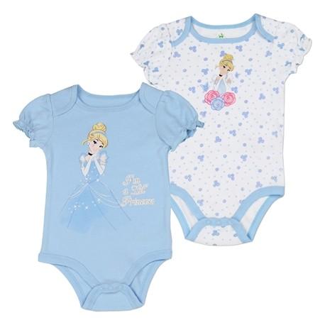 Disney Princess Cinderella Blue And White Onesie 2 pack