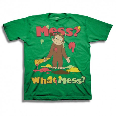 Curious George Mess What Mess Green Toddler T Shirt