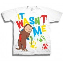 Curious Greorge It Was Not Me White Toddler T Shirt