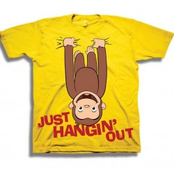Curious George Just Hanging Out Yellow Toodler Boys Graphic T Shirt