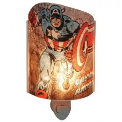 Marvel Comics Captain America Plug In Acrylic Nightlight