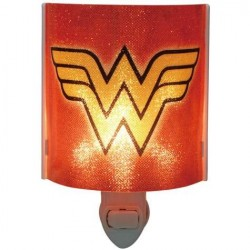 DC Comics Wonder Woman Logo Plug In Acrylic Nightlight With Light Bulb Houston Kids Fashion Clothing