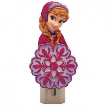 Disney Frozen Anna Princess Of Arendalle Plug In Decorative Nightlight