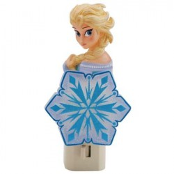 Disney Frozen Elsa The Snow Queen Decorative Plug In Nightlight With Light Bulb