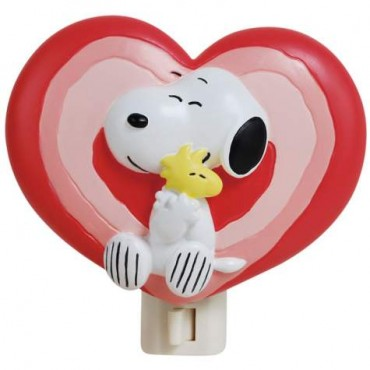 Peanuts Snoopy And Woodstock Decorative Plug In Nightlight With Bulb