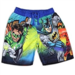 DC Comics Justice League Boys Swim Shorts With Batman Superman Flash And The Green Lantern