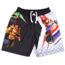 Nintendo Mario Kart With Bowser And Mario Boys Swim Shorts