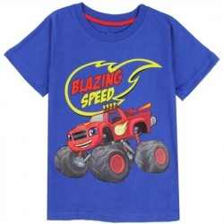 Nick Jr Blaze And The Monster Machines Blazing Speed Blue Shirt