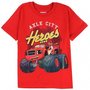 Nick Jr Blaze And The Monster Machines Axle City Heroes Shirt