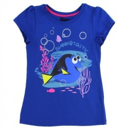 Disney Pixar Finding Dory Bubbletastic Royal Blue Girls Graphic T Shirt