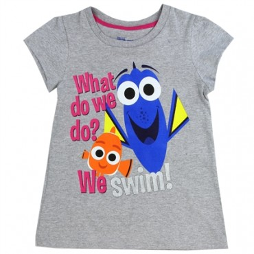 Disney Finding Dory What Do We Do We Swim Grey Shirt