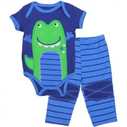 Buster Brown Blue Onesie With Alligator And Blue Pants Space City Kids Clothing Store