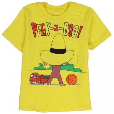 Curious George Yellow Toddler Flap Shirt Lift The Flap To Find George