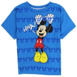Disney Mickey Mouse Blue Hiya Toddler Short Sleeve T Shirt