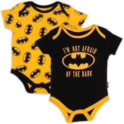 Batman I Am Not Afraid Of The Dark Baby Onesie Set