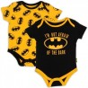 Batman Infant I am Not Afraid Of The Dark 2 Piece Onesie Set