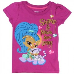 Nick Jr Shimmer And Shine BFF'S Divine Shine And Nahal Girls Shirt