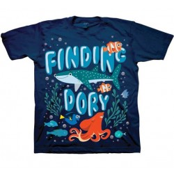 Disney Pixar Finding Dory Destiny Hank Dory and Nemo Blue Toddler Boys Graphic T Shirt