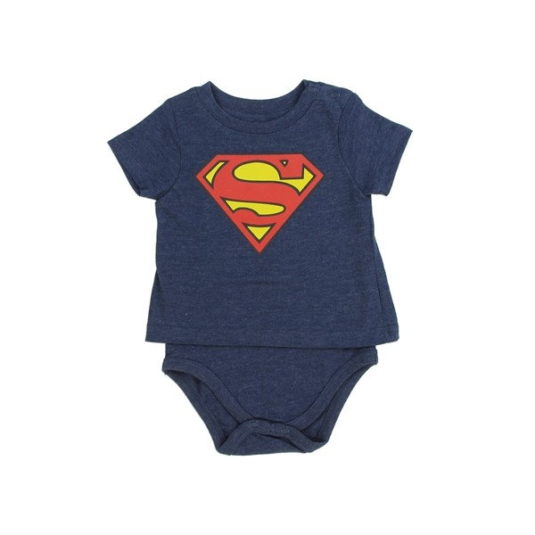 Comics Superman Blue Shirt Onesie Shield
