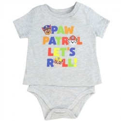 Nick Jr Paw Patrol Let's Roll Grey T Shirt Onesie