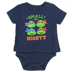 Nick Jr Teenage Mutant Ninja Turtles Small But Mighty Blue T Shirt Onesie