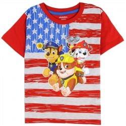 Nick Jr Paw Patrol US Flag Shirt With Chase Marshall And Rubble