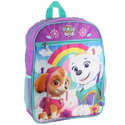 Nick Jr Paw Patrol Everest and Skye Purple Girls Backpack