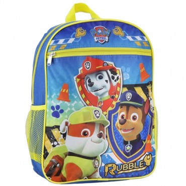 Nick Jr Paw Patrol Rubble With Chase And Marshall Boys Backpack