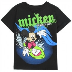 Disney Mickey Mouse Wave Rider Black Toddler T Shirt