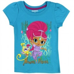 Nick Jr Shimmer and Shine Magical Friends Turquoise Toddler Shirt At Space City Kids