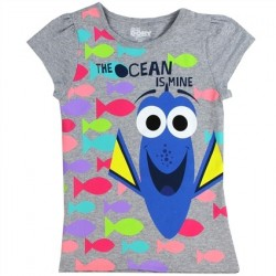Disney Finding Dory The Ocean Is Mine Grey Girls T Shirt At Space City Kids
