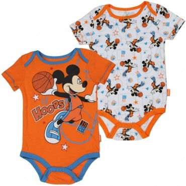 Disney Mickey Mouse Lil hoops Basketball 2 Piece Onesie Set At Space City Kids