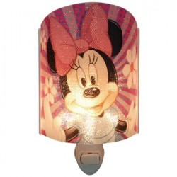 Disney Minnie Mouse Acrylic Plug In Nightlight