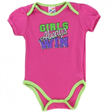 Coney Island Girls Always Win Infant Pink Onesie At Space City Kids Clothing