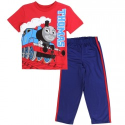 Thomas and Friends Red Thomas Shirt Blue Athletic Pants At Space City Kids Clothing