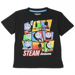 Thomas The Train Steam Team Black Toddler T Shirt