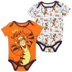 Disney Winnie The Pooh Tigger Born Wild 2 Pack Onesie Set
