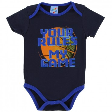 Coney Island Your Rules My Game Black Onesie At Space City Kids Clothing