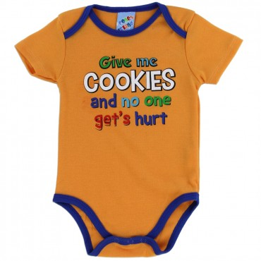 Coney Island Give Me Cookies And No One Gets Hurt Onesie At Space City Kids Clothing