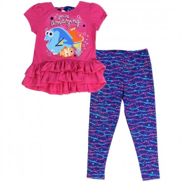 Disney Finding Dory You're Amazing Dory And Nemo 2 Piece Legging Set Space City Clothing