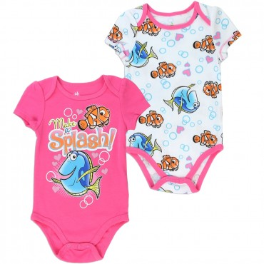 Disney Pixar Finding Dory Nemo And Dory Make A Splash 2 Pc Onesie Set At Space City Kids