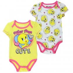 Looney Tunes Tweety Bird Cuter Than Cute 2 Piece Baby Onesie Set Space City Kids Clothing