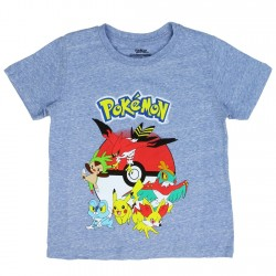 Pokemon Pokeball With Pikachu And Friends Character Boys Shirt