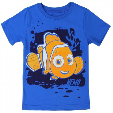Disney Finding Dory Nemo Blue Boys Short Sleeve Shirt At Space City Kids Clothing
