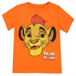 Disney Lion Guard Follow My Lead Kion Orange Toddler Boys Shirt
