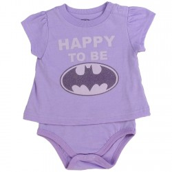 DC Comics Batgirl Happy To Be Batgirl Purple T Shirt Onesie