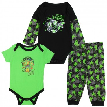Nick Jr Teenage Mutant Ninja Turtles In Training 3 Piece Boys Layette Set Space City Kids Clothing